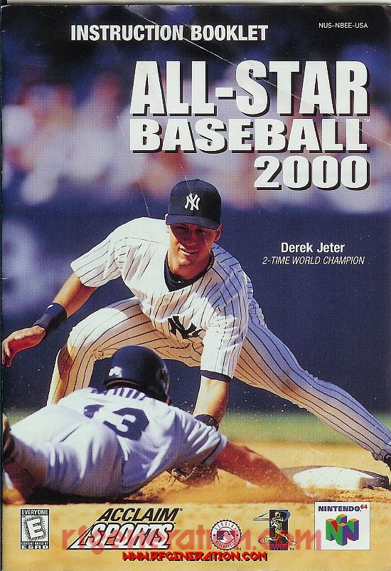 All-Star Baseball 2000 Manual Scan