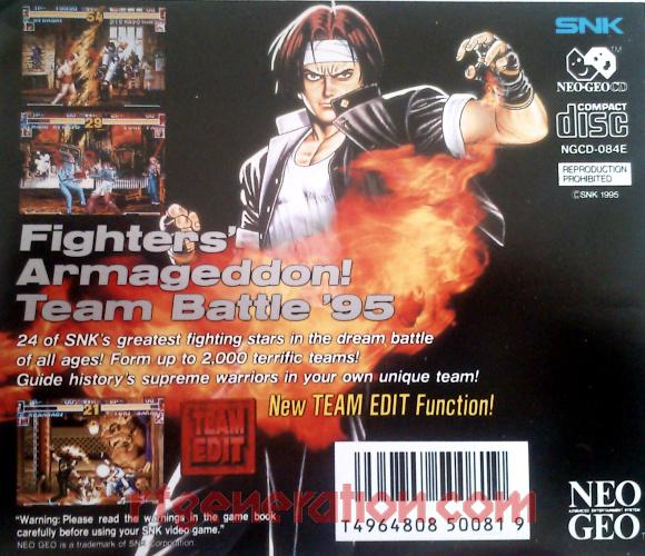 King of Fighters '95, The Box Back