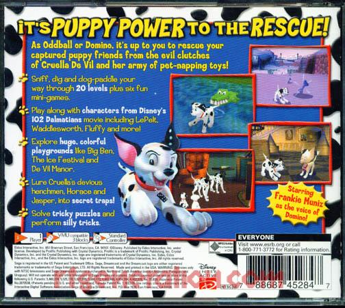 102 Dalmatians, Disney's: Puppies to the Rescue Box Back
