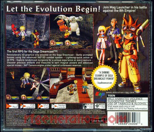 Evolution: The World of Sacred Device Box Back