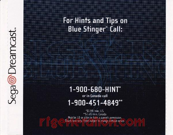 Blue Stinger In-Game Screen