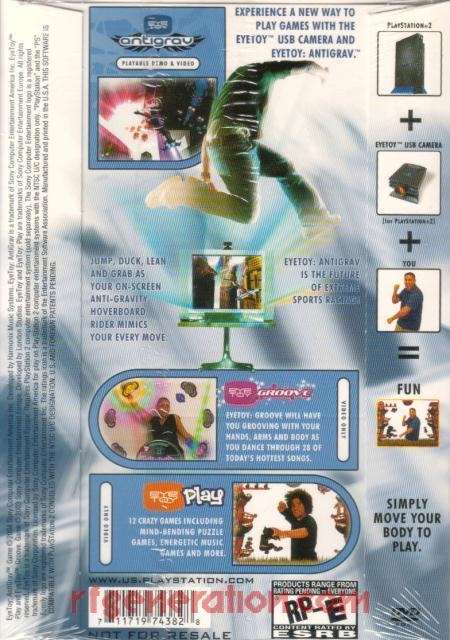 EyeToy:  AntiGrav <sup></sup> Box Back