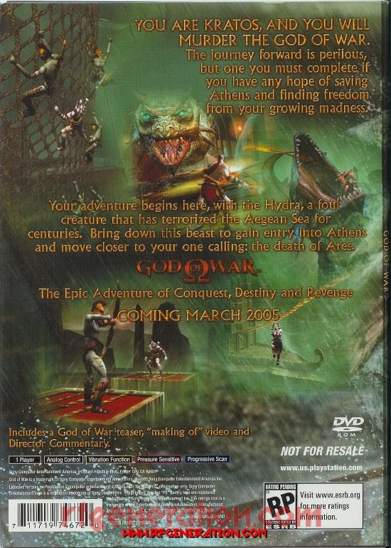 God of War: The Hydra Battle <sup></sup> Box Back