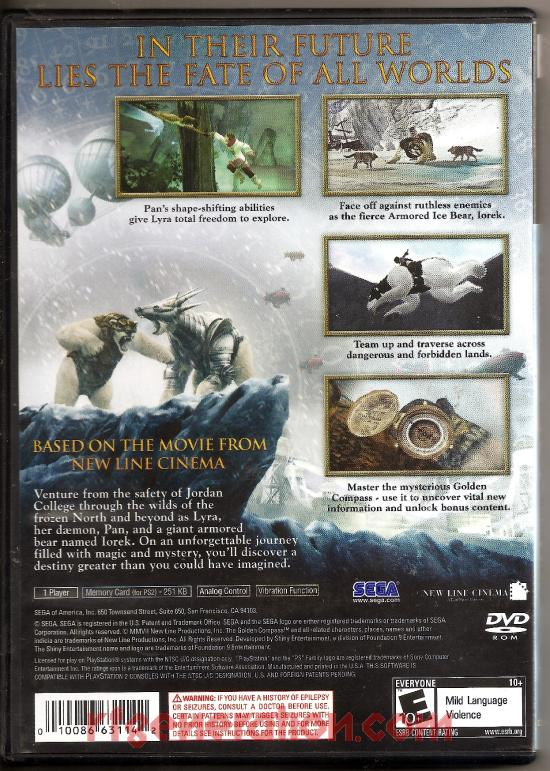 Golden Compass, The Box Back