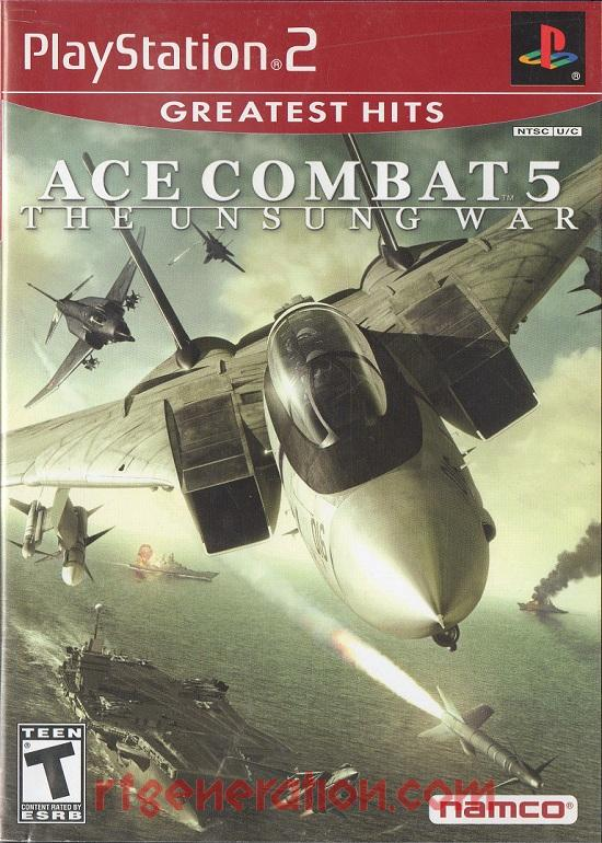 Ace Combat 5: The Unsung War <sup>[Greatest Hits]</sup> Box Front