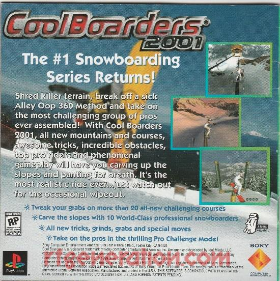 Cool Boarders 2001 In-Game Screen