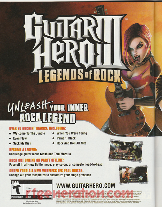 Guitar Hero III: Legends of Rock <sup>[Special Edition Bundle]</sup> In-Game Screen