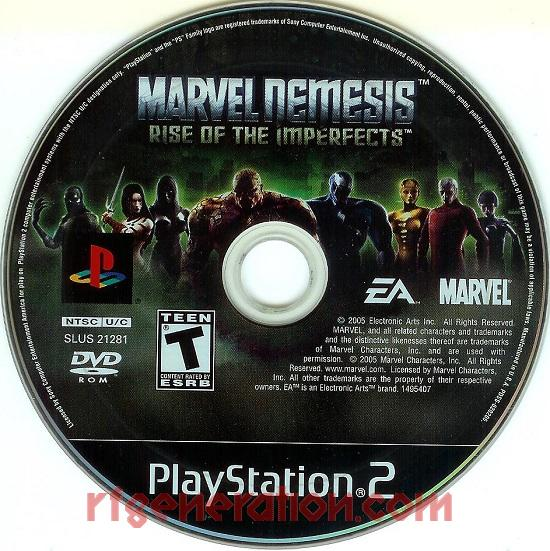 Marvel Nemesis: Rise of the Imperfects Game Scan