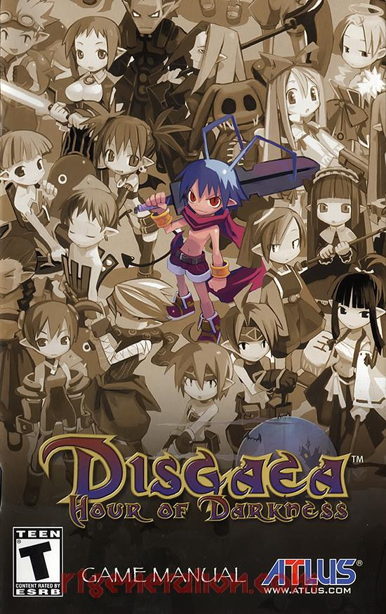 Disgaea: Hour of Darkness Manual Scan