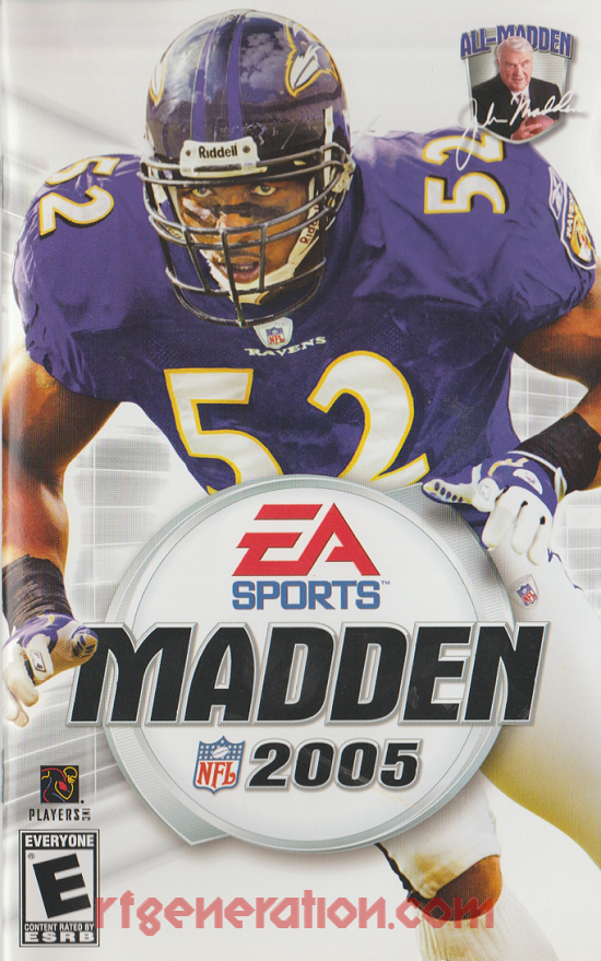 Madden NFL 2005 Manual Scan