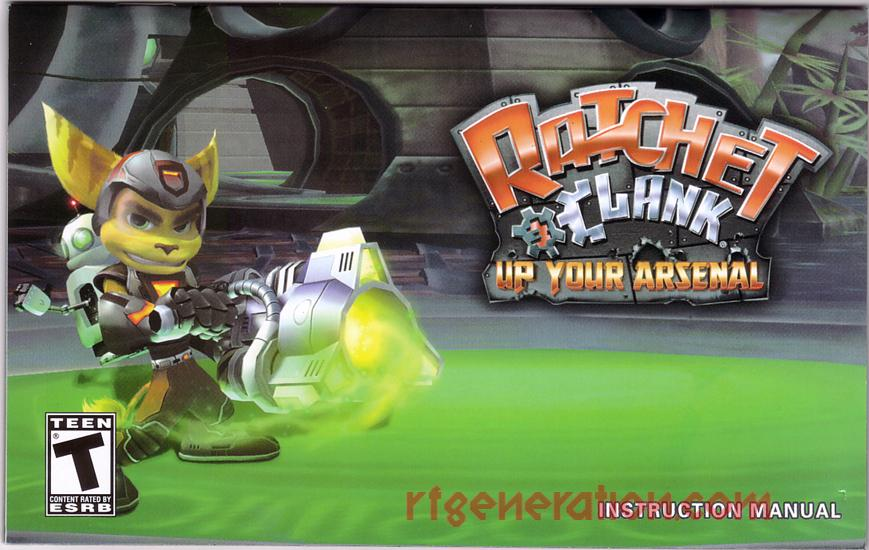 Ratchet & Clank: Up Your Arsenal <sup>[Greatest Hits]</sup> Manual Scan