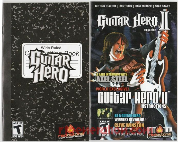 Guitar Hero & Guitar Hero II Dual Pack Manual Scan