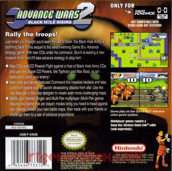 Advance Wars 2: Black Hole Rising Box Back