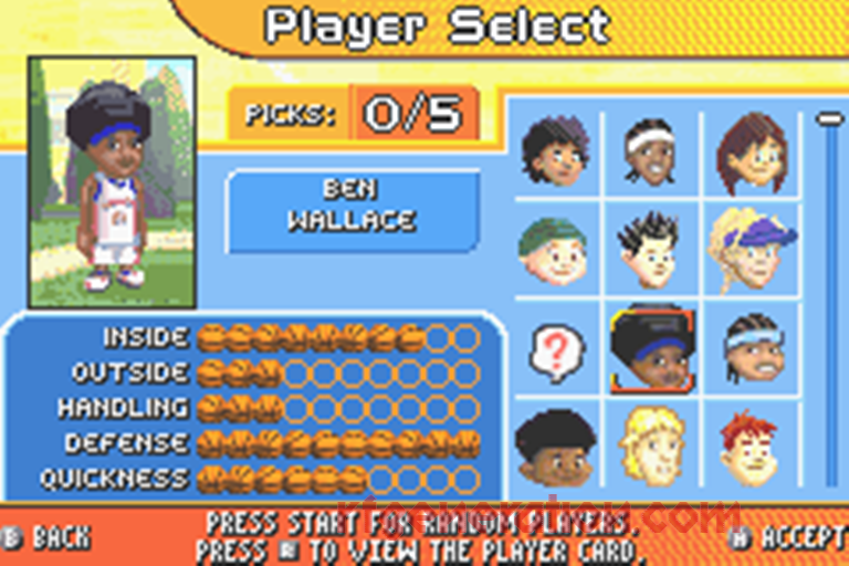 Backyard Sports Basketball 2007 features