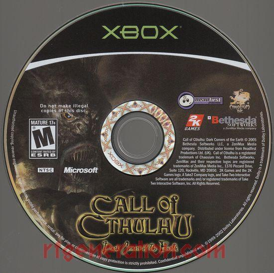 Call of Cthulhu: Dark Corners of the Earth Game Scan