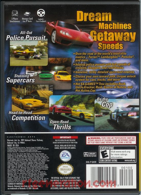 Need for Speed: Hot Pursuit 2 <sup>[Player's Choice]</sup> Box Back
