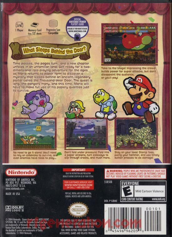 Paper Mario: The Thousand-Year Door <sup>[Best Seller]</sup> Box Back