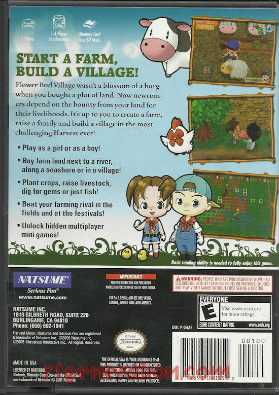 Harvest Moon: Magical Melody Box Back