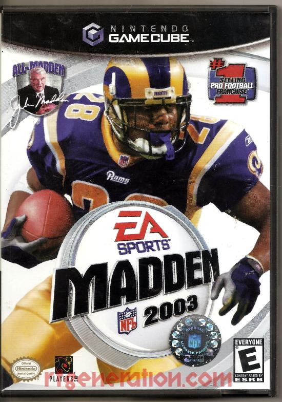Madden NFL 2003 Box Front