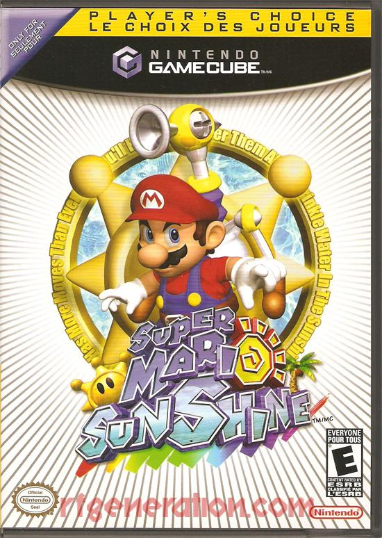 Super Mario Sunshine <sup>[Player's Choice]</sup> Box Front