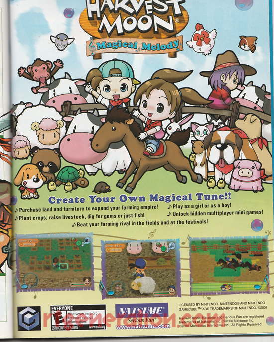 Harvest Moon: Magical Melody In-Game Screen