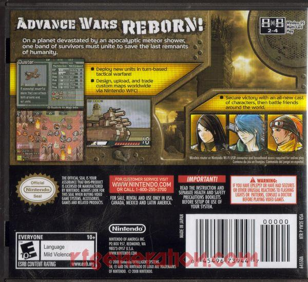 Advance Wars: Days of Ruin Box Back