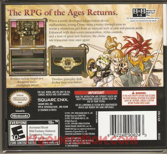 Chrono Trigger Box Back