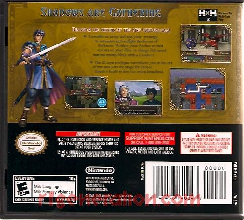 Fire Emblem: Shadow Dragon Box Back