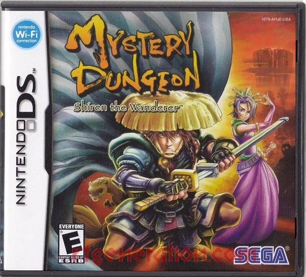 Mystery Dungeon: Shiren the Wanderer Box Front