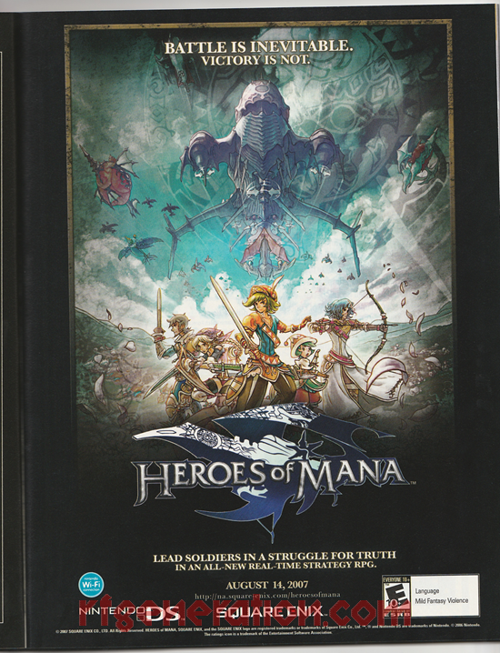Heroes of Mana In-Game Screen