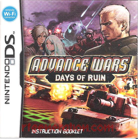 Advance Wars: Days of Ruin Manual Scan