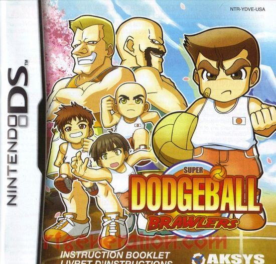 Super Dodgeball Brawlers Manual Scan
