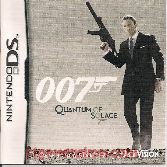 007: Quantum of Solace Manual Scan
