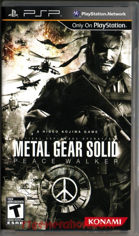 Metal Gear Solid: Peace Walker Box Front