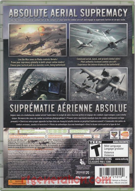 Ace Combat 6: Fires of Liberation Box Back