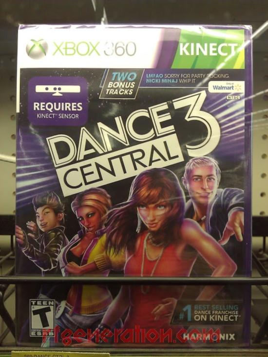 Dance Central 3 <sup>[Walmart Exclusive]</sup> Box Front