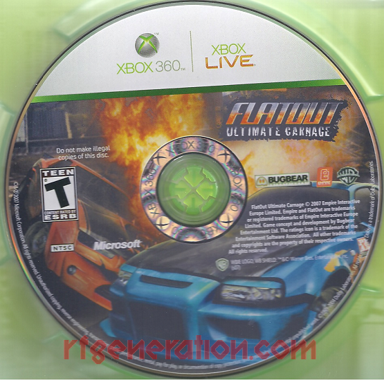 Flatout: Ultimate Carnage Game Scan