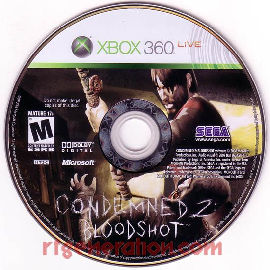 Condemned 2: Bloodshot Game Scan