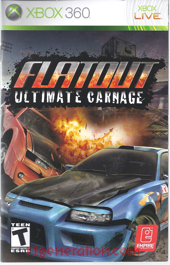 Flatout: Ultimate Carnage Manual Scan