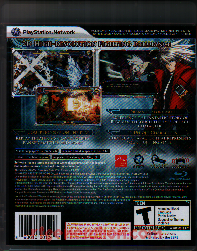 BlazBlue: Calamity Trigger Box Back