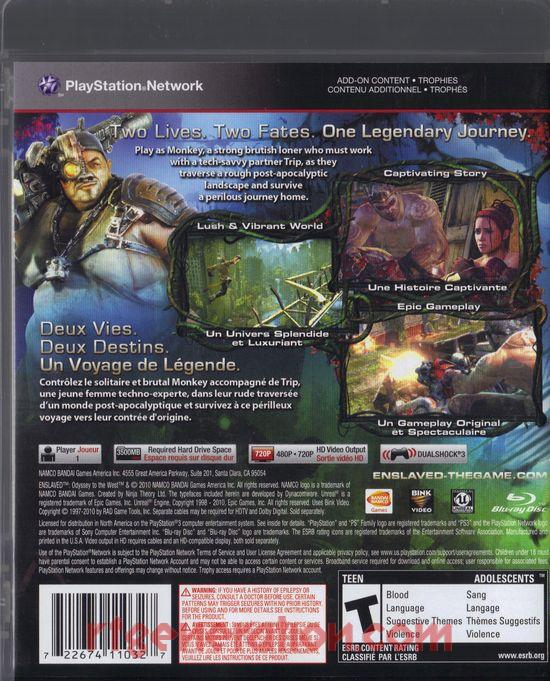 Enslaved: Odyssey to the West Box Back