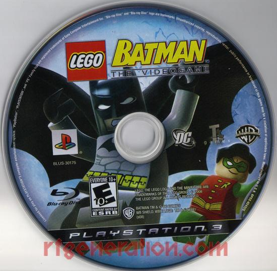 LEGO Batman: The Videogame Game Scan
