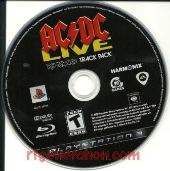 AC/DC Live: Rock Band Track Pack Game Scan