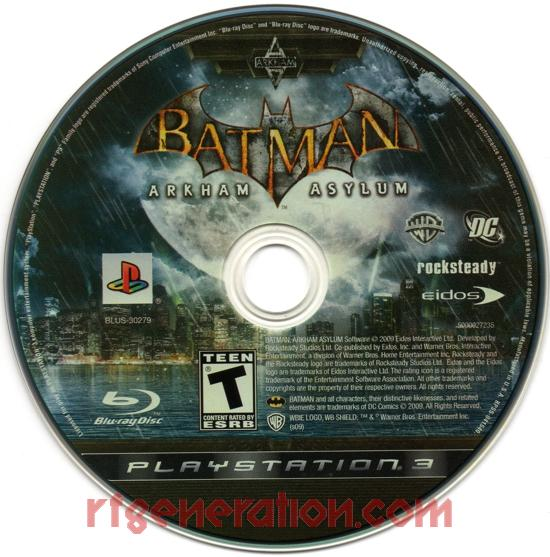 Batman: Arkham Asylum Game Scan