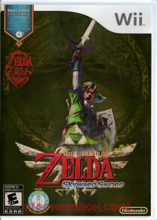 Legend of Zelda, The: Skyward Sword <sup>[Music CD]</sup> Box Front