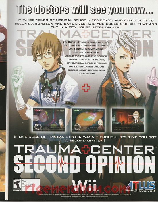 Trauma Center: Second Opinion In-Game Screen