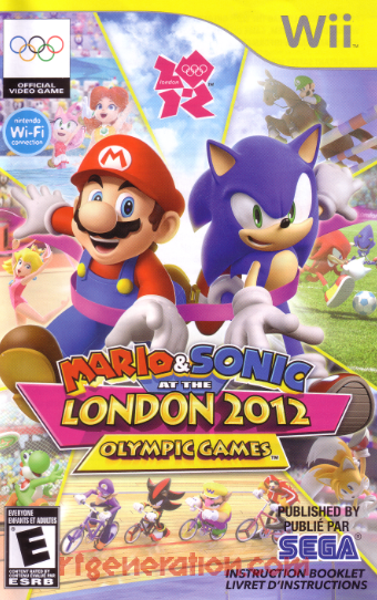 Mario & Sonic at the London 2012 Olympic Games Manual Scan