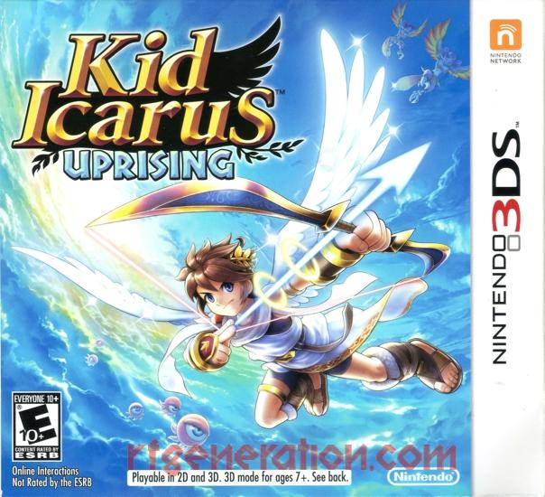 Kid Icarus: Uprising Box Front