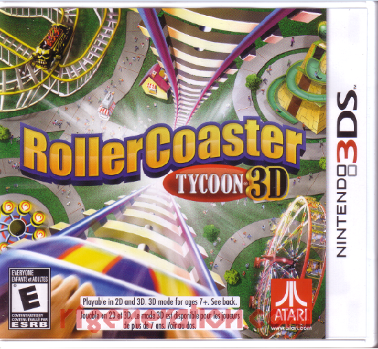 RollerCoaster Tycoon 3D Box Front