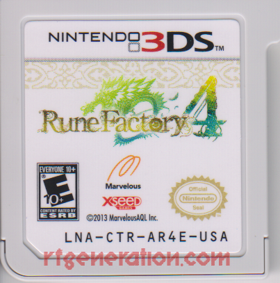 Rune Factory 4 Game Scan
